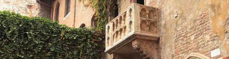 nejkrásnější památky města romeo a jůlie - juliin balkon