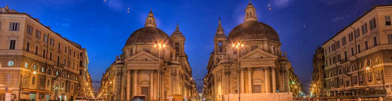 PA_0052_00_Santa Maria dei Miracoli a Santa Maria in Montesanto - Řím - roma - Italie - cestování - dovolená v itálii - Panda na cestach - panda1709